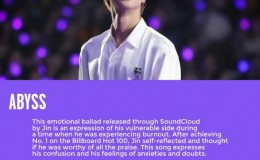 防弹少年团金硕珍的solo曲,被评为应该得到像《Dynamite》一样认可的歌曲
